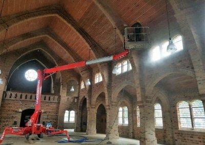 Gevelreiniging in de Victorkerk